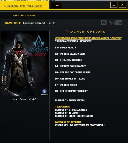assassins creed unity trainer